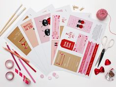 Valentines Day printables for Valentines day parties, lunch box notes, making a Valentines coupon book and more