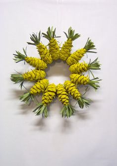 Pine Cone Pineapple Wreath by WestTwinCreations on Etsy, $26.50