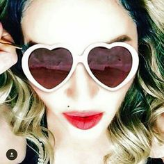 """I'm that Girl. Looking at the world through Rose colored glasses. la Vie En Rose. ❤️ #rebelhearttour Thank you Tokyo"" -Madonna"