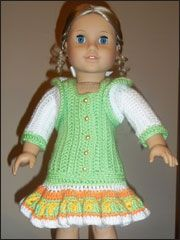 pdf with crochet dress for American Girl dolls