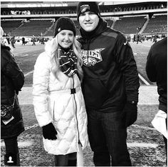 Mike Trout and his girlfriend...Jessica Cox, high school sweethearts!!