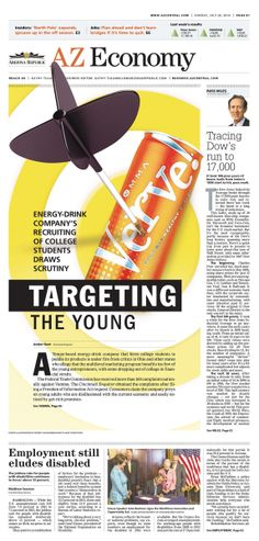 Targeting the young #Newspaper #GraphicDesign #Layout