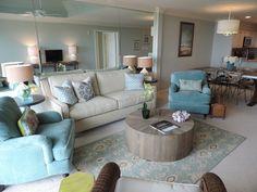 Jennifer Schoenberger Design Beach Condo Makeover Via Cote De Texas Living Rooms Pinterest