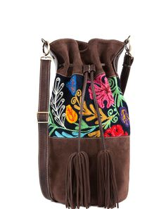 Hippie Chic Hobo Bag Brown Suede