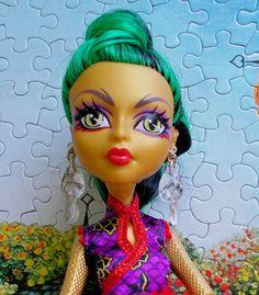 Handmade Monster Doll Earrings, Crystal Clear Teardrop Earrings, EAH Doll Tear Drop Jewelry, MH Clear Earrings, High Fashion Doll Earrings by CuteWeirdFluffy on Etsy