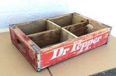 Vintage Wooden Soda Bottle Crate Dr Pepper | eBay