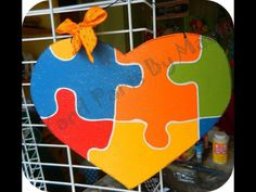 Autism Awareness Door Hanger- $20 on Etsy by Yard Parts by Marts #autism #awareness #puzzlepiece