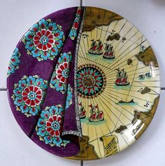Super Ideas For Painting Techniques Pottery Ceramic Art - Hobbies paining body for kids and adult Pottery Painting, Pottery Art, Pottery Ideas, Turkish Art, Turkish Design, Turkish Tiles, Pencil Drawings Of Flowers, Paint Your Own Pottery, Art Folder