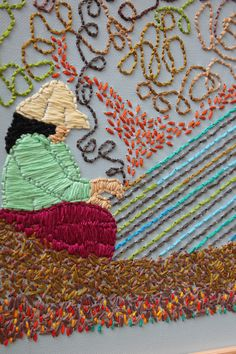 Embroidery by Mary Balda of Santa Barbara,CA Creating Rhythm.