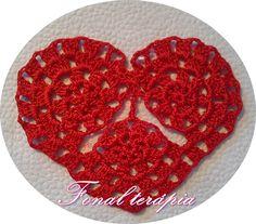 horgolt#piros#szív