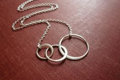 Silver Linked Circles Necklace in Sterling Silver. $29.00, via Etsy.