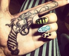 Pistol Tattoo Design For Girls