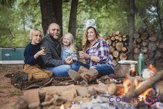 family campfire portraits - Google Search