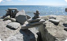 Stone stacks Washington State coast