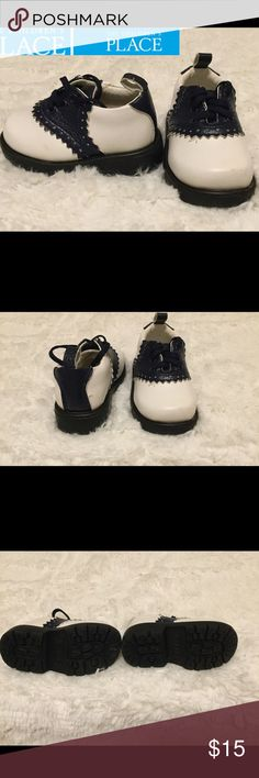 🎊🎈HP❄️🎊 Baby boy Oxford shoes size 3 Children's These are adorable infant baby boy shoes from the Children's place they retail for $58.00.  Small scuffs on the front of shoe priced accordingly still only wore a handful of times.  Other than that they are in excellent condition and comes from a smoke free home.  Buy with confidence I am a top rated seller, mentor and fast shipper.  Thank you. Children's Place Shoes Baby & Walker