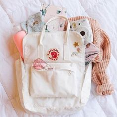 Only at UO: the white Kanken. Get it before it's gone! Mochila Kanken, Mochila Jansport, Mochila Adidas, Aesthetic Backpack, Vsco Pictures, Cute School Supplies, Cute Backpacks, Girl Backpacks, School Backpacks