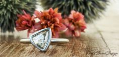 Natural raw diamond engagement rings by Ken and Dana Design