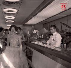 1959 - Défilé sul Settebello, organizzato da un noto cinegiornale dell'epoca e dall'atelier romano Carosa.