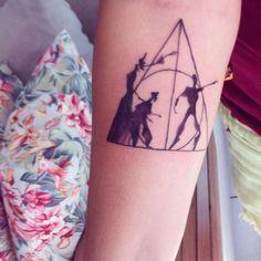 Las reliquias de la muerte tatuaje harry potter