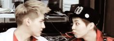 """(Gif) Kris and Xiumin are too adorable for their own good"" EXO"