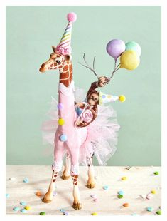 Safari Party Cake Topper/Giraffe Cake Topper/Orangutan Cake Topper/Princess Giraffe Topper/Ballerina Giraffe Topper – Famous Last Words Giraffe Cakes, Safari Cakes, Safari Party, Circus Party, Giraffe Party, Birthday Party Tables, Birthday Cakes, Cake Banner, Little Presents