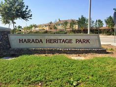 The Harada Heritage Park sign in Eastvale, California. #cityofeastvale http://youreastvalerealtor.com/eastvale-parks/