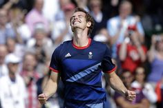 Britain's Andy Murray celebrates after defeating Switzerland's Roger Federer to win the men's singles gold medal match at the All England Lawn Tennis Club at Wimbledon, in London, at the 2012 Summer Olympics, Sunday, Aug. London Tennis, Tennis Magazine, 2012 Summer Olympics, Olympics News, Winning London, Tennis News, Lawn Tennis, Team Gb, Tennis Clubs