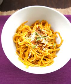 Pumpkin Sage Butter Pasta Sauce - made this for dinner tonight, super simple, rich, and decadent.