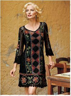 Irish lace, crochet, crochet patterns, clothing and decorations for the house, crocheted. Freeform Crochet, Irish Crochet, Crochet Lace, Crochet Pattern, Knit Dress, Dress Skirt, Crochet Woman, Irish Lace, Crochet Fashion