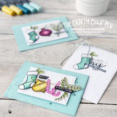 Homemade Christmas Cards, Stampin Up Christmas, Christmas Tag, Christmas Crafts, Simple Christmas, Winter Crafts For Toddlers, Toddler Crafts, Heartfelt Creations Cards, Some Cards