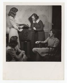 Students operating a radio phonograph :: Archives & Special Collections Digital Images :: 1945 Phonograph, Digital Image, 1920s, Archive, Students, Collections, Big