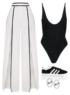 """""""Untitled #5821"""" by twerkinonmaz ❤ liked on Polyvore featuring adidas and Karl Lagerfeld"""