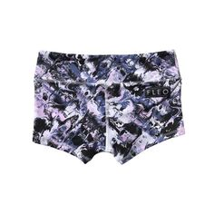 Mystic Marble spandex shorts by FLEO