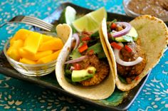 Apple & Falafel Tacos with Spicy Mole Sauce