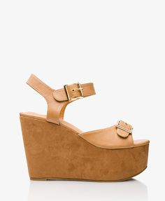 Buckled Wedge Sandals #Forever21 #Buckle #Wedge