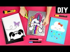 10 Ideias incríveis de Capa de Caderno DIY com Plástico Auto Adesivo - YouTube Diy Notebook Cover, Custom Embroidered Patches, Diy Tumblr, Diy Canopy, Diy Patches, Ideias Diy, Cute Pillows, Diy Scrapbook, Bookbinding