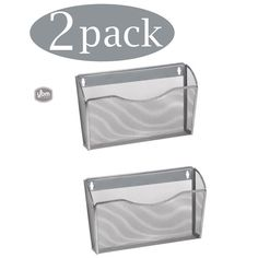Ybm Home Single Pocket Office Mesh Wall Mount Hanging File Holder Organizer Silver in. W in L 2 Pack(Metal) Hanging File Organizer, Mail Organizer Wall, Hanging File Folders, Linen Closet Organization, Wall Organization, Home Focus, Folder Design, Hanging Files, Wall Accessories