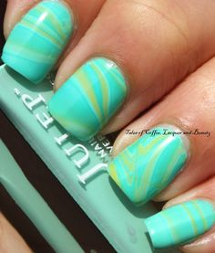 Watermarble Nail Art with Julep Denver, Julep Lissa and Julep Dawn I Tales of Coffee, Lacquer and Beauty