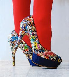 Recycle Reuse Renew Mother Earth Projects: How to make Decorated High Heel Shoes