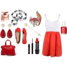 red, created by #drue-young on #polyvore. #fashion #style Wet Seal #Fendi