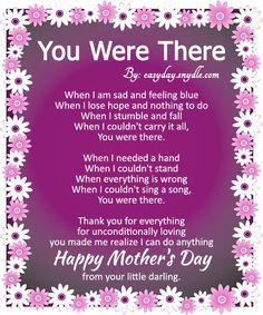 Happy Mothers Day Poems With Images
