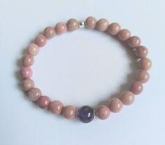 Stretch Bracelets, Beaded Bracelets, Boho Jewelry, Jewellery, Boho Ideas, Crimp Beads, Sterling Silver Flowers, Bead Caps, Beaded Flowers