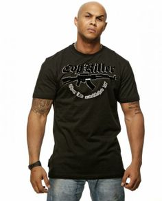"Thug Life T-Shirt ""Cop Killa"" AK Schwarz"
