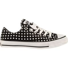 "Converse All Star - black with polka dots these shoes remind me of my (""sister"") Jilly!!!!!"