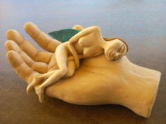 handmade sculpture with clay