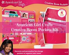 American Girl Crafts Creative Room Pockets Kit Create A Cute Wall Organizer The
