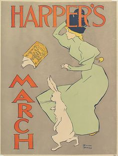 Edward Penfield (America, 1866-1925). Harper's:March, 1895. The Metropolitan Museum of Art, New York. Museum Accession, transferred from the Library, 1957 ( 57.627.9(46)).