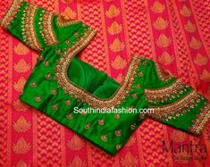Bridal Silk Saree Blouse Designs - Mantra -The Design Studio, 2018 latest blouse designs heavy work blouse designs maggam work blouse designs embroidery work blouse Wedding Saree Blouse Designs, Pattu Saree Blouse Designs, Blouse Designs Silk, Designer Blouse Patterns, Zardosi Work Blouse, Wedding Blouses, Hand Work Blouse Design, Simple Blouse Designs, Stylish Blouse Design