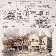 Interesting Find A Career In Architecture Ideas. Admirable Find A Career In Architecture Ideas. Watercolor Architecture, Architecture Sketchbook, Architecture Design, Graphisches Design, Sketch Design, Book Design, Architect Drawing, Interior Sketch, Urban Sketchers