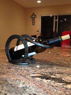 Horseshoes Wine Rack